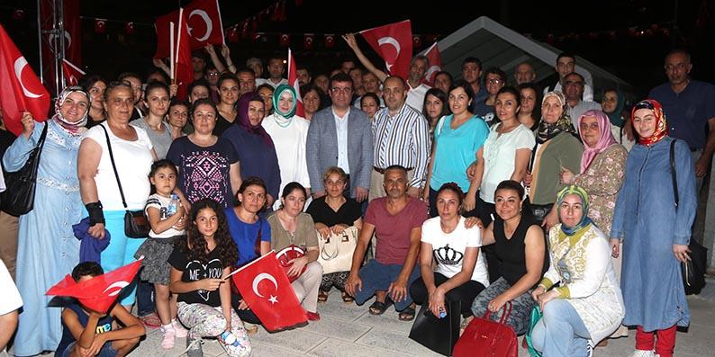 Atakum'da birlik ve beraberlik pozu