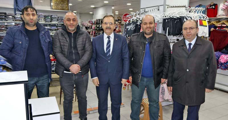 Bafra Belediye Başkanı Şahin'den esnaf ziyareti