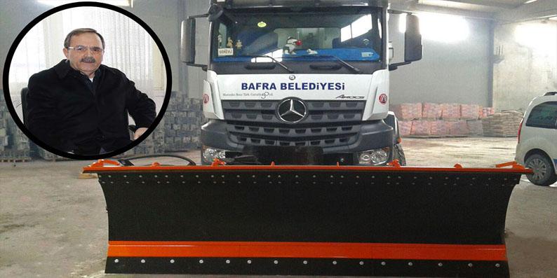 Bafra Belediyesi Kar'a Hazır
