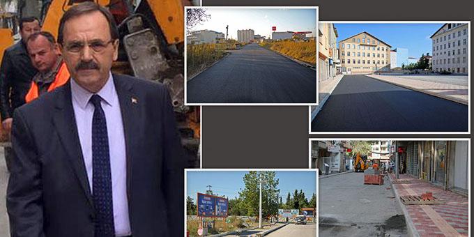 Bafra Belediyesi'nden ilçeye 25 bin ton asfalt