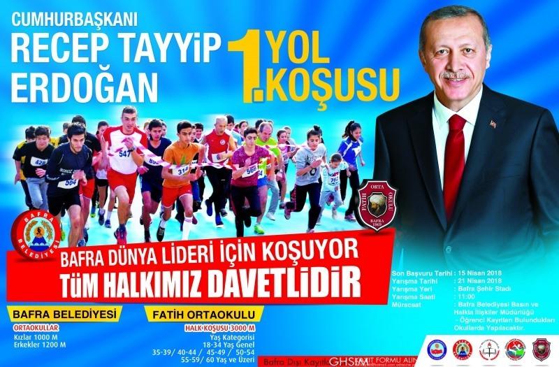 Bafra Dünya Lideri Recep Tayyip Erdoğan İçin Koşacak!