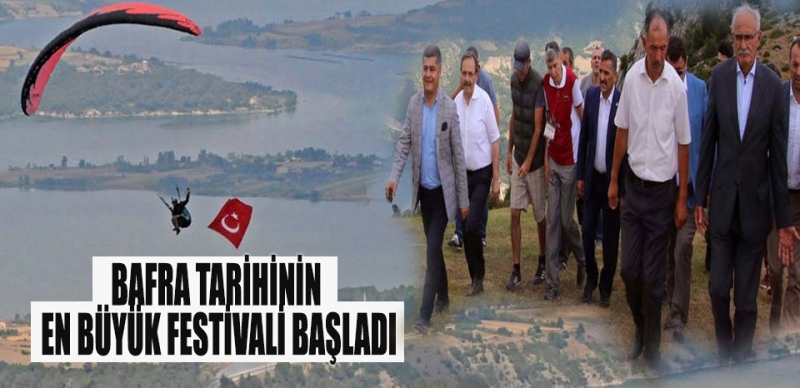 Bafra Tarihinin En Büyük Festivali Başladı