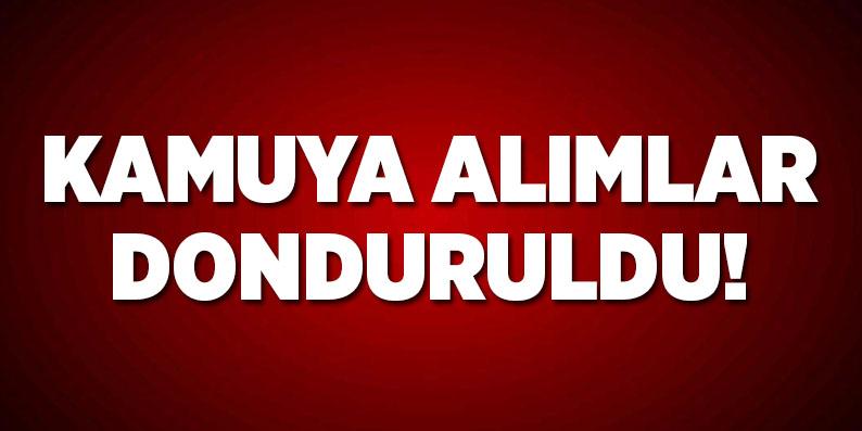 Bakan Müezzinoğlu: 'Kamuya alımlar donduruldu'