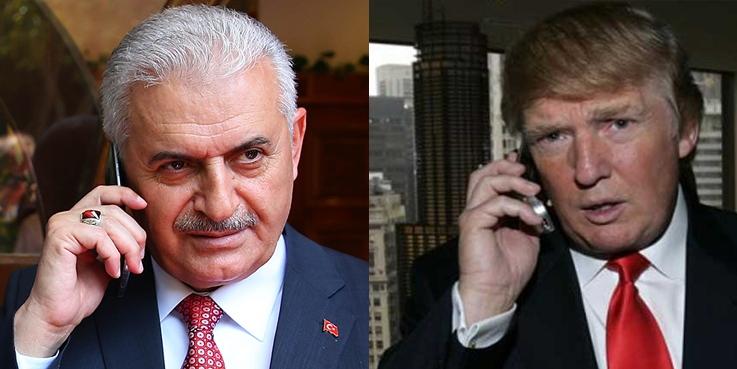 Başbakan Yıldırım'dan Donald Trump'a tebrik telefonu