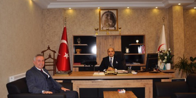 Başkan Belur İl Sağlık Müdürünü makamında ziyaret etti