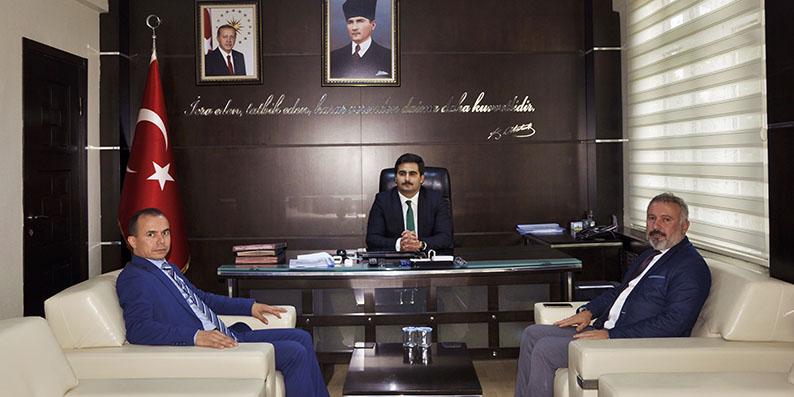 Başkan Belur'dan yeni atanan Kaymakama hayırlı olsun ziyareti