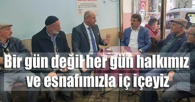 Başkan Hasan Togar'dan esnaf ziyareti