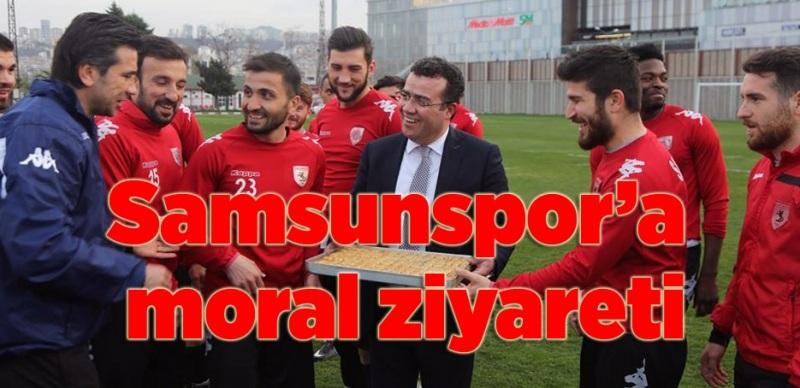 Başkan İshak Taşçı'dan Samsunspor'a 'tatlı' ziyaret