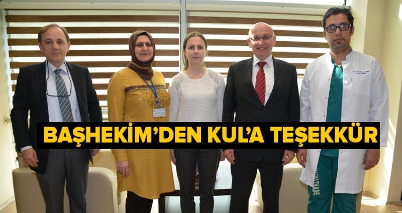 Başkan Kul'dan Terme Devlet Hastanesi'ne ziyaret