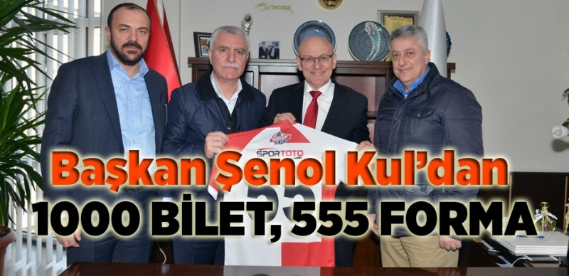 Başkan Şenol Kul'dan Samsunspor'a destek