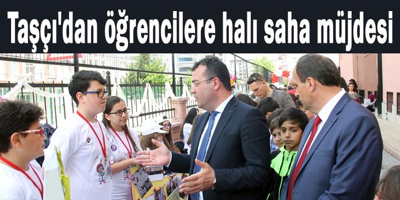 Başkan Taşçı'dan Atakent Ortaokulu'na halı saha sözü