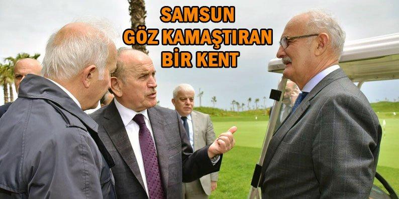 Başkan Topbaş Samsun'daki değişime hayran kaldı