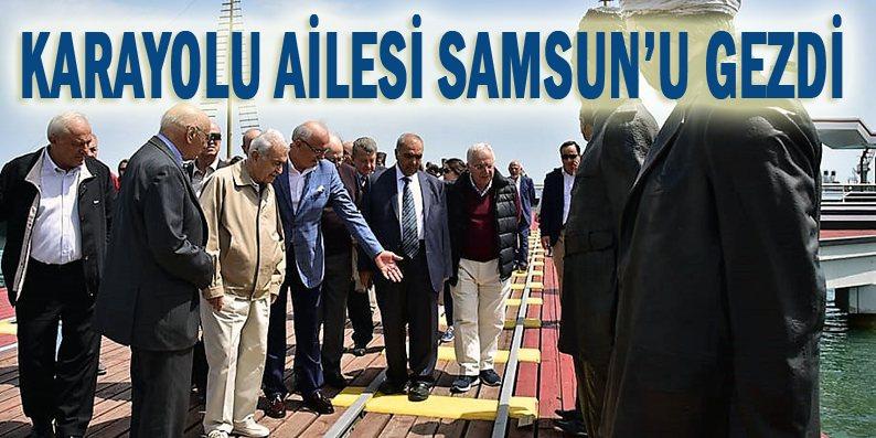 Başkan Yılmaz rehber oldu, misafirlerine Samsun'u gezdirdi