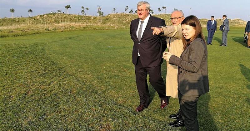 Başkan Yılmaz Ukraynalı Elçiye Golf Kulubünü Gezdirdi