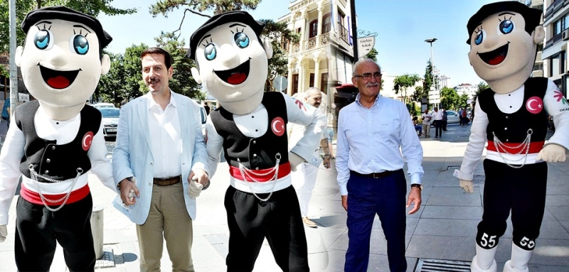 Başkan Yılmaz ve Tok, Çakır ile vatandaşları olimpiyatlara davet etti