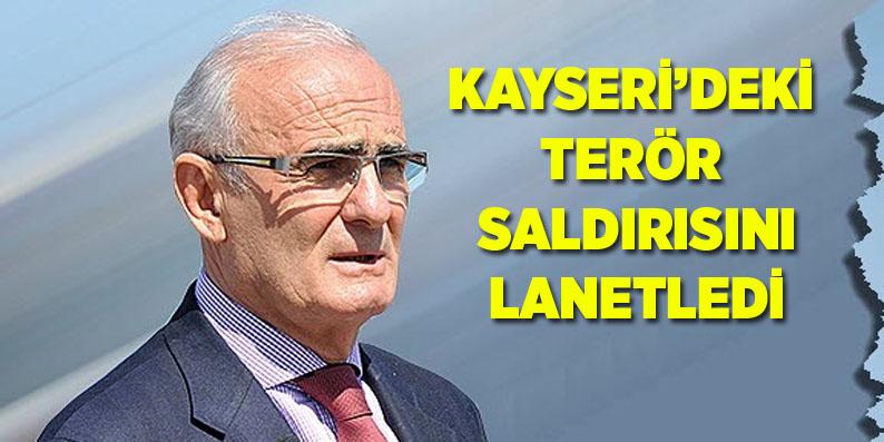 Başkan Yılmaz'dan Kayseri'deki saldırıyı lanetledi