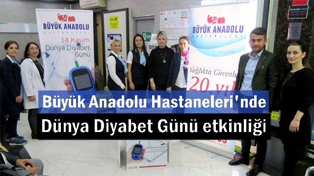 Büyük Anadolu Hastaneleri'nden diyabet bilgilendirmesi