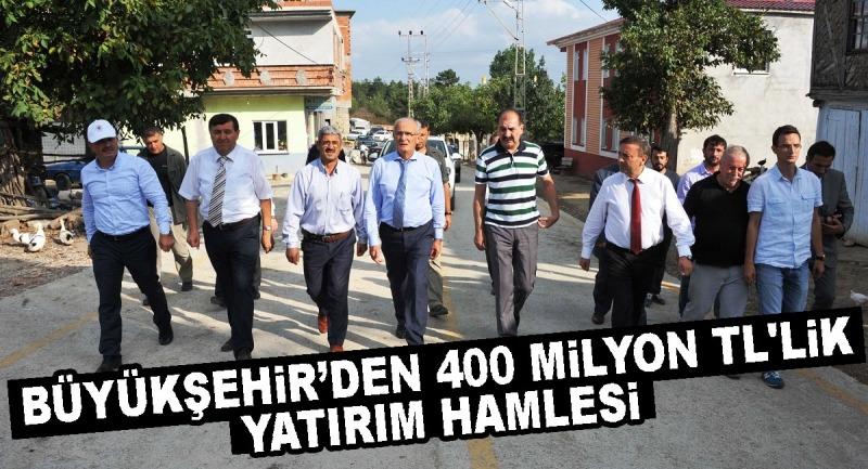 Büyükşehir'den 400 milyon tl'lik yatırım hamlesi