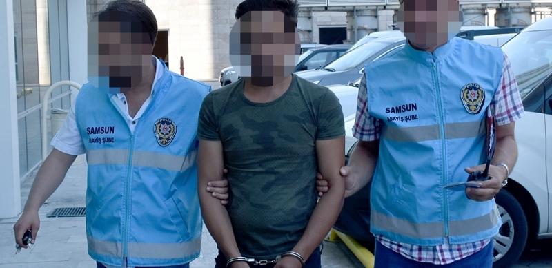 Çaldığı otomobille Samsun'da gezerken yakalandı