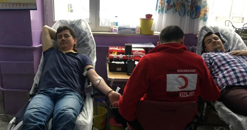 Çarşamba'da köy okullarından rekor kan bağışı