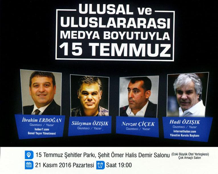 Darbe girişiminde medyanın rolü Samsun'da mercek altına alınıyor