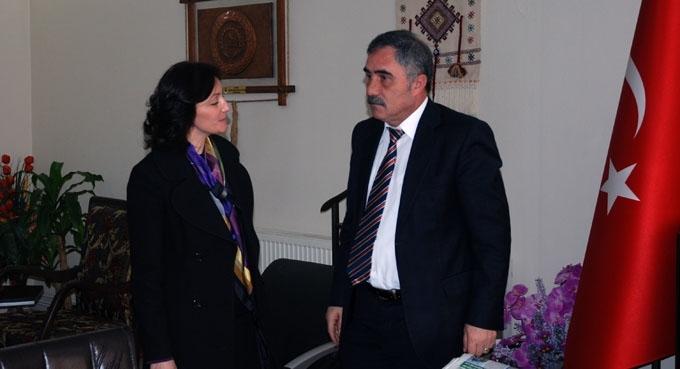 Emine Karaçuha Yılmaz'dan Başkan Güler'e ziyaret