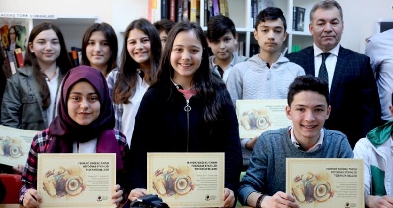Ferrero ödülünü Giresun'da Şevval Ünlü kazandı
