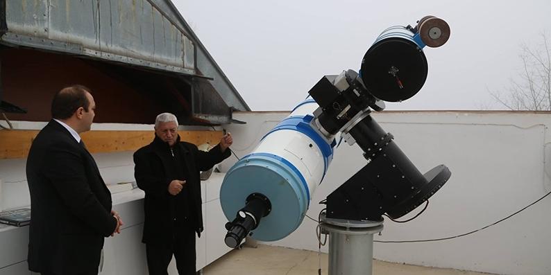 Gözlemevinde gençlere astronomi eğitimi verilecek