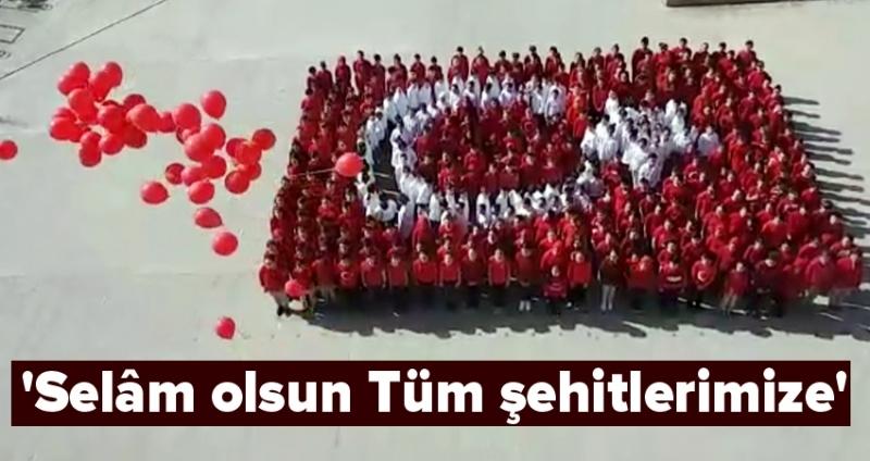 Hasköy Ortaokulu'ndan 'Selâm olsun Tüm şehitlerimize'