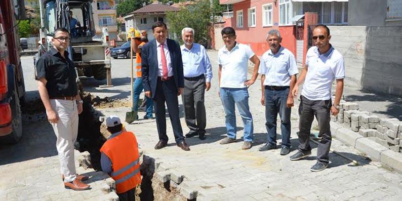Havza'da doğalgaz hattı döşeme çalışmaları başladı