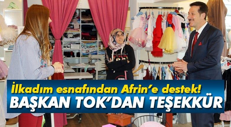 İlkadım esnafından Afrin'e destek