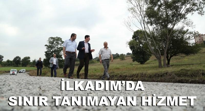 İlkadım Güzeldere'ye 1800 ton asfalt