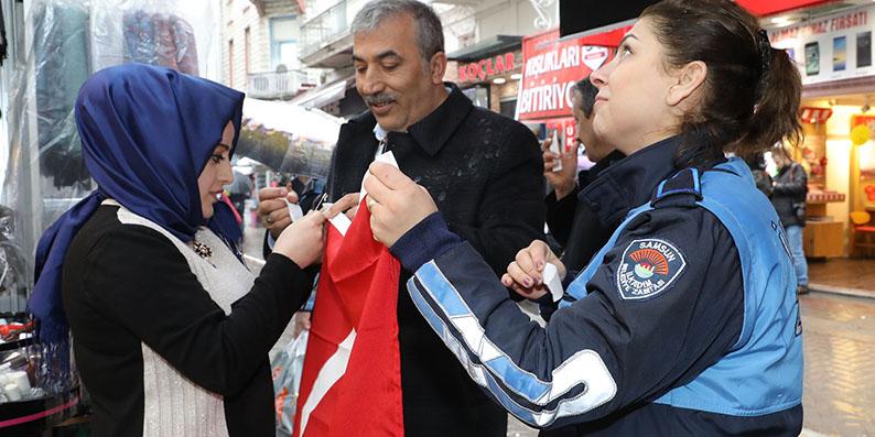 İlkadım'dan Afrin operasyonu'na Türk bayraklı destek