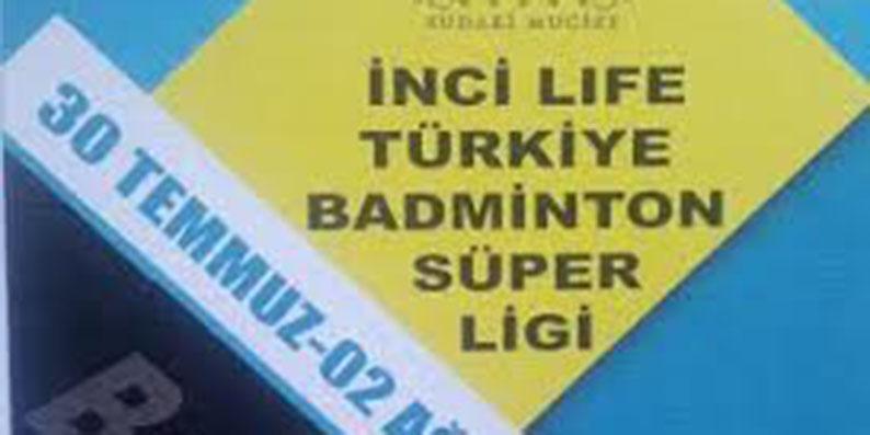 İnci Lıfe Türkiye badminton süper ligi Bafra'da başlıyor