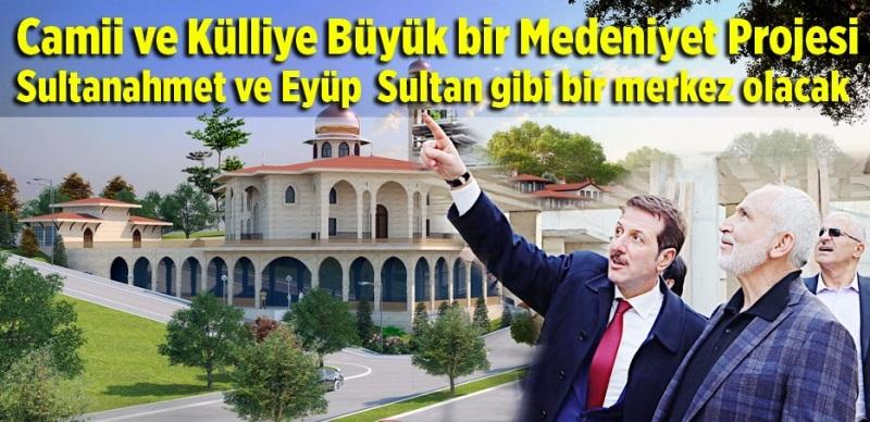 Karadeniz'in en büyük  Camii ve Külliyesi İlkadım'da yükseliyor