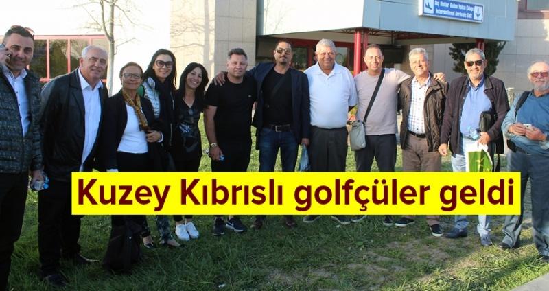 Kuzey Kıbrıslı golfçüler geldi