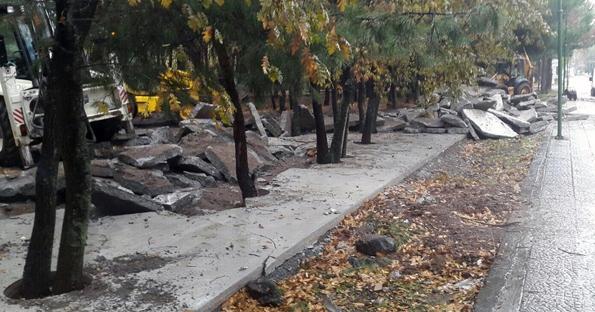 Meşe Park'taki beton zemin kaldırıldı