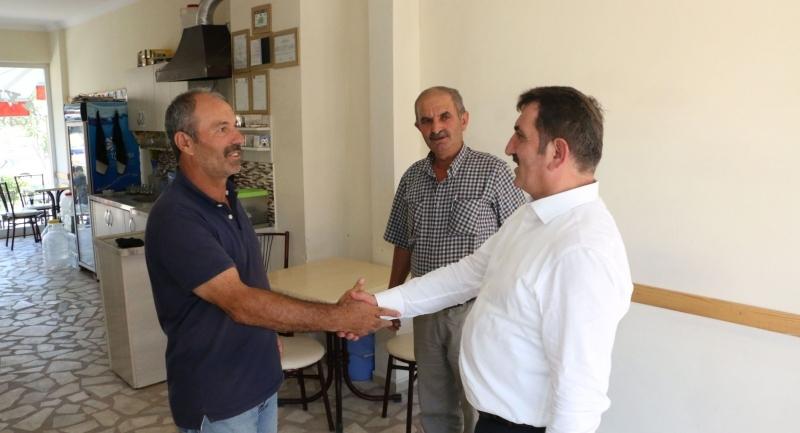 Milletvekili Köktaş Atakum'da esnaf ziyareti yaptı