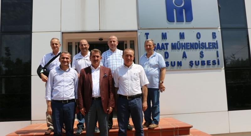 Milletvekili Köktaş İnşaat Mühendisleri Odası Başkanlığını ziyaret etti