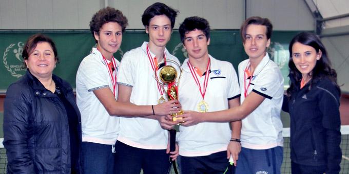 Okullararası Tenis İl Birinciliği Müsabakaları sona erdi