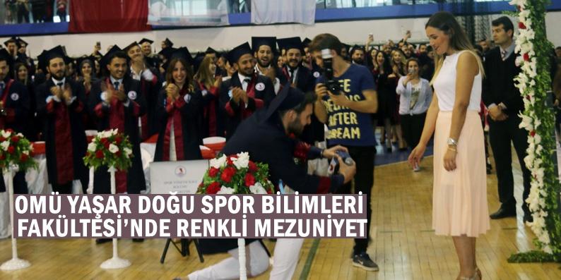 OMÜ'de mezuniyet töreninde evlenme teklifi