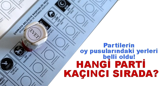 Partilerin oy pusularındaki yerleri belli oldu!