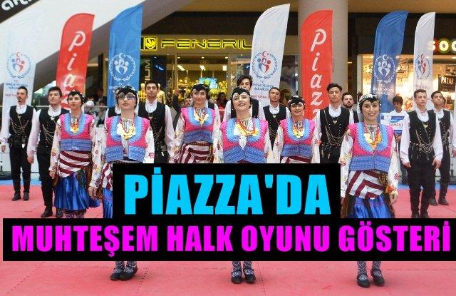 Piazza'daki Halk Oyunları Festivali Büyük İlgi Gördü