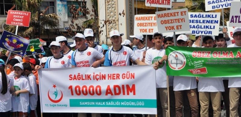 Salıpazarı'nda 'Obez Olma, Aktif Ol!' projesi