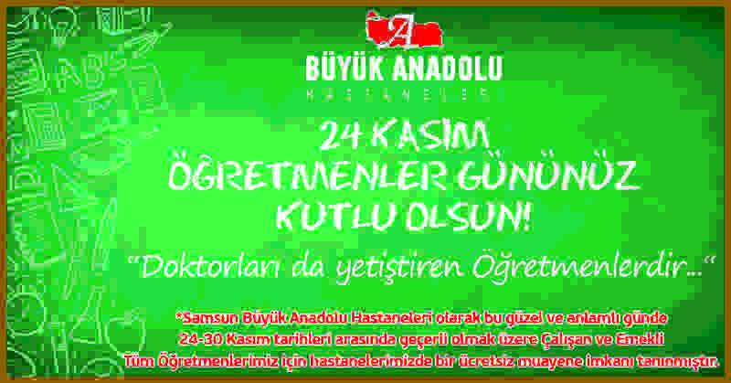 Samsun Büyük Anadolu Hastaneleri'nden Öğretmen Günü'ne özel kampanya