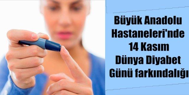 Samsun Büyük Anadolu Hastaneleri'nden 'Diyabet' uyarısı