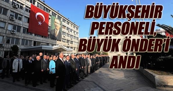 Samsun Büyükşehir Belediyesi önünde anma töreni