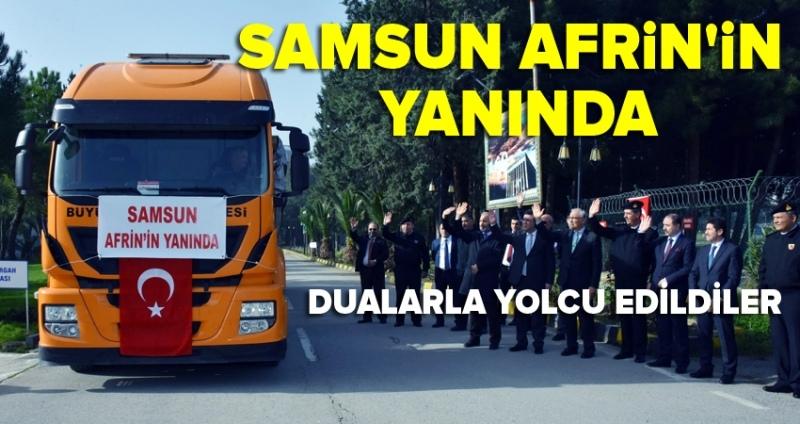 Samsun Büyükşehir Belediyesi'nden Afrin'e yardım tırı