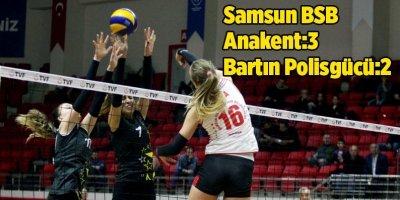 Samsun Büyükşehir Belediyesi Anakent Spor Bartın Polisgücü'nü 3-2 yendi