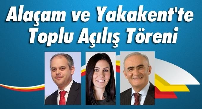 Samsun Büyükşehir Belediyesi'nden Alaçam ve Yakakent'te Toplu Açılış Töreni